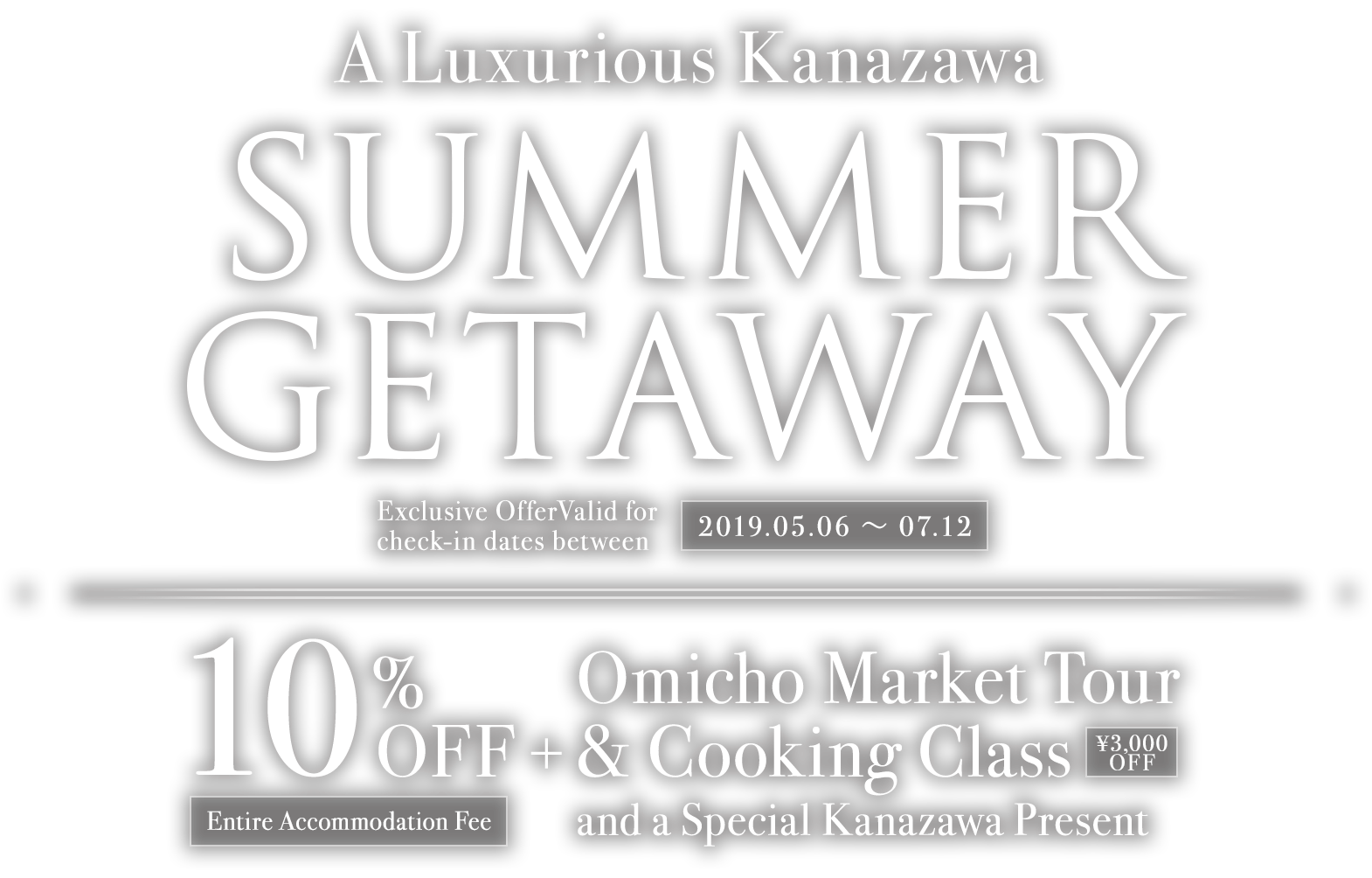 Kanazawa Summer Holiday Deals | 10% Discount + Omicho Market Tour & Cooking Experience | Limited Time